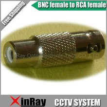 Free Shipping High Quaility 10pcs/lot New BNC Female to RCA Female AV Adapter ,CCTV Accessories ,Wholesale XR-AC13(China)