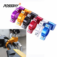 "7/8"" 22mm Motorcycle Mirrors Handle Bar Brackets Motocicleta Rearview Mirror Mount Holder Clamp Adapter For Harley Honda Yamaha"