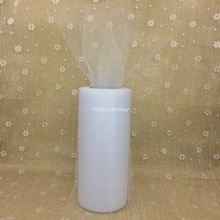 22mX15cm White Organza Sheer Gauze Element Yarn Roll Crystal table Decoration decoracao casamento bachelorette party supplies