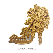 Retrol Flower High heels Shoe Die Cuts,Metal Cutting Dies In Scrapbooking Embossing Folder DIY Card Funny Scrapbooking Template(China)