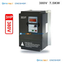CNC Spindle 380V Variable Frequency Drive 7.5KW 3PH CNC Spindle Motor Speed Control VFD Inverter for Printing Press(China)