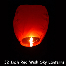 "10pcs/lot 32"" Red Chinese Wish Lantern Paper Sky Lantern Hot Air Balloon For Party Wedding Proposal Outdoor Activity Good Luck"