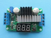 5PCS LTC1871 DC-DC Boost Converter Adjustable Step-Up High Power Supply Module LED Voltage Meter/Button Switch