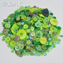 TPSMOC mix size 50 Gram DIY Making Hand Knitting doll's clothing Buttons Resin Promotions Mixed Sewing Scrapbook (China)