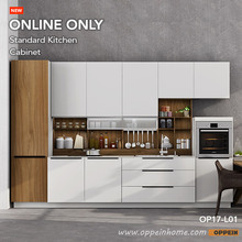 Oppein 360cm Width Pre-Assembled Kitchen Cabinet Lacquer Finish Kitchen Cabinets(OP17-L01)