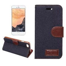 Buy Apple iPhone 7 4.7'' Fashion Vogue Jeans Textile Leather Wallet Flip Case Credit Card Slot iPhone7 Fold Cover Pouch for $5.99 in AliExpress store