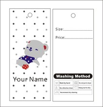 500pcs custom print winter hang tags price label template 012 clothes packing label can change text color for you(China)