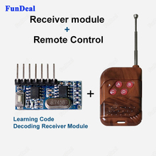 1set 4 CH 433Mhz Key Wireless Remote Control Kits Superheterodyne Learning Code Decoding Receiver Transmitter Module For Arduino(China)