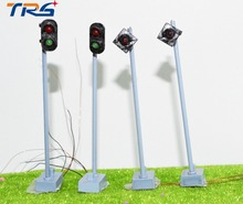 HO scale Metal Traffic Signal Lights 5-6V 0.36W Power LED Train Railway Architecture Diorama Scenery Accessories