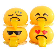 Yellow expression antistress Novelty Gag Toys Spitting Yolk Emoji Egg Prank Squeeze Stress Relief Toys Gifts(China)
