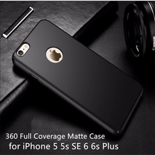 Fashion Hard Matte Case For iPhone 6 Cases 5s 5 SE 6s 6 Plus iPhone 7 Plus Case 360 Full Cover Plastic Phone Cover Housing Coque