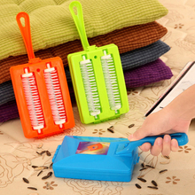 Handheld Carpet Table Crumb Sweeper Plastic Dual Brush Cleaner Collector Roller Home Cleaning Tools