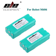 ELEOPTION 2PCS 14.4V 2000mAh 2.0Ah Ni-MH Replacement Vacuum Battery for Libero 0606004 M606 14.4 Volt(China)