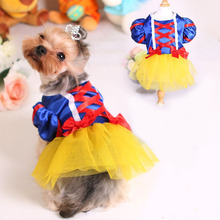 Clothes for dogs Pet Dog Dress for Chihuahua Yorkies Classic Princess Lace Wedding Dresses Clothing for Small Dogs Product 30 D(China)