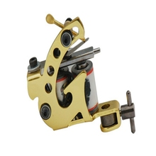 Top Handmade Tattoo Machine Gun New Professional Tattoo Machine Coils 10 wrap Cast Black For Beginner Shader Liner Free Shipping