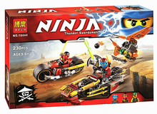 Hot 2016 10444 Ninja Toys Brick Compatible With   Building Blocks Chariots Boys