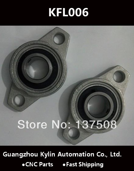 Hot!2pcs KFL006 FL006 flange bearing with pillow block 30mm caliber Zinc Alloy Pillow Block Bearing<br><br>Aliexpress