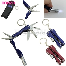 Portable 9 In 1 Stainless Steel Multi Tool Plier Outdoor Pocket Mini Camping Kit #G205M# Best Quality