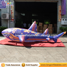 4m, 5m, 7m Long inflatable product large animal shark/inflatable shark replica for adult and swimming pool(China)