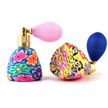 High Quality 15ml 1Piece China Style Cute Lovely Airbag Atomizer Perfume Bottles Empty Parfum Case With Colorful Free Shipping