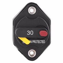 1 Piece 30 Amp Waterproof Manual Reset Circuit Breaker Switch Car Boat Fuse Holder