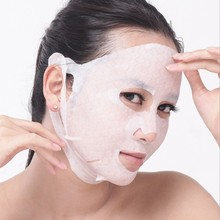 DIY Beauty Salons Professional Ear Style Mask Paper 4D Natural Cotton Facial Mask Sheet(China)
