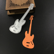 New Metal Cutting Die Stencils Guitar Musical Instruments Handwork Art DIY Scrapbook Embossing Album Paper Card Craft Decorative