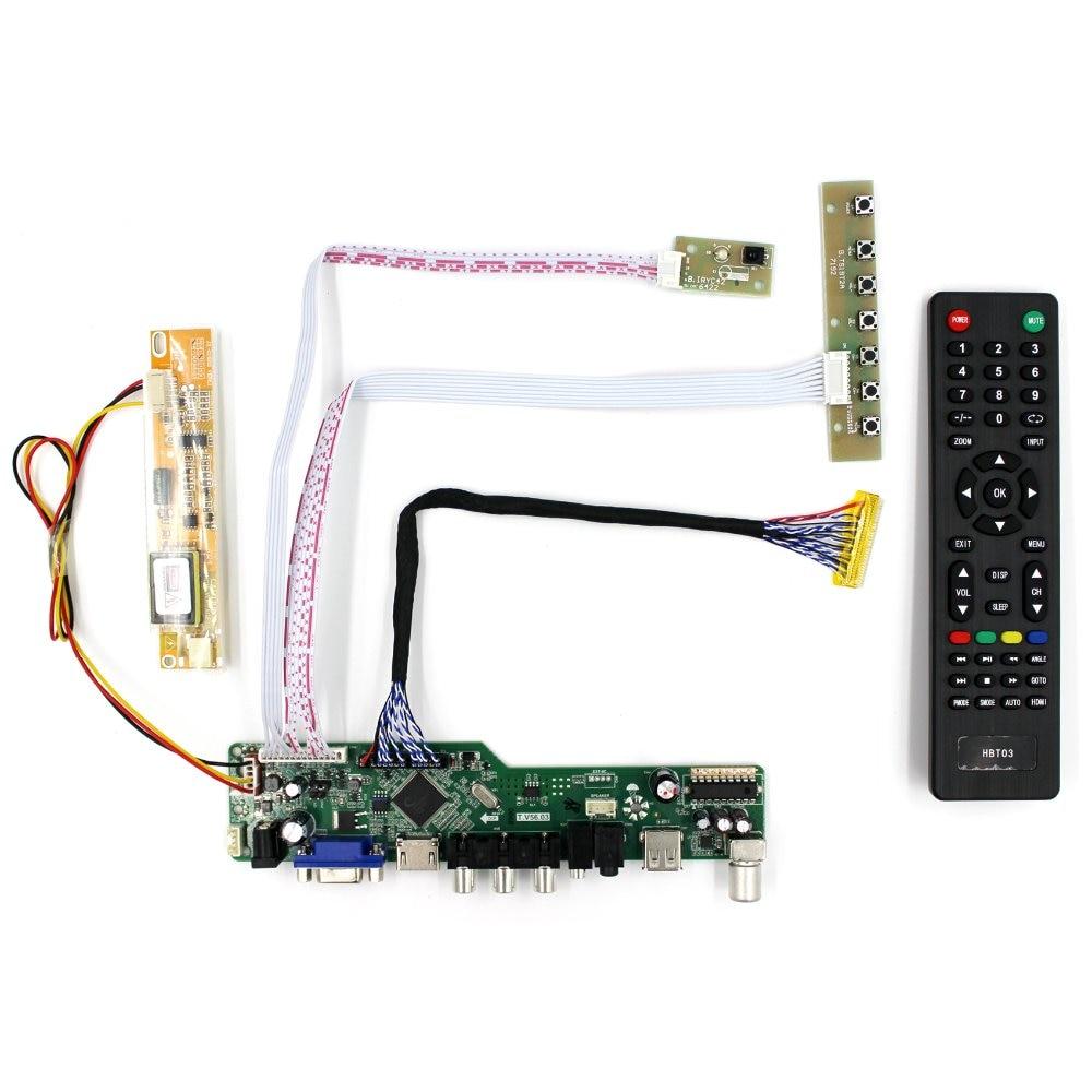 TV HDMI VGA AV USB Audio LCD Controller Board For 15.4 17 B154PW01 B170PW03 B170PW06 LP171WP4 LTN170X2 1440x900 LCD Screen<br>