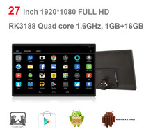 27 inch Android all in one pc (touch screen, Rockchip3188,quad core, 1GB DDR3,16GB nand,5M camera, 3W*2 speakers,VESA,Bluetooth)(China)