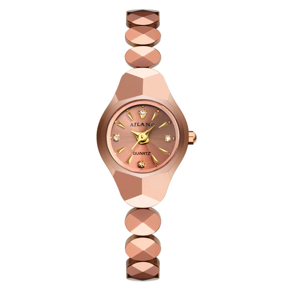 Delicate Cute Women 21MM Tungsten Steel Bracelet Watches AILANG Summer Street Fashion Dress Wrist watch Elegant Dress Clock W029<br>