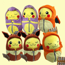 Cartoon Pikachu Plush Toys Dolls Cosplay Charizard Ekans Sleeping Bag Cartoon Fashion Plush Toys 20cm(China)