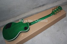 Chinese musical Instruments Factory custom les New CUSTOM Green Finish Ebony Fretboard LP Electric Guitar paul