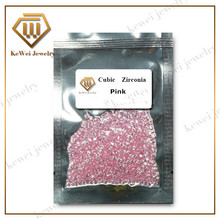 1000pcs AAAAA 1.0mm-3.75mm Round Shape Pink Cubic Zirconia Stone For Jewelry Loose CZ Brilliant Cut Synthetic Gemstone