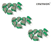 100pcs/lot 1.2v 40mAh NI-MH rechargeable battery button cell coin cell battery pack Free shipping