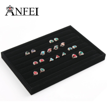 ANFEI Ring jewelry trays jewelry jewelry boxes black and boxes wholesale stand for earrings jewelry stand(China)