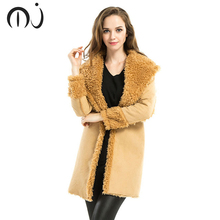 Women Coat Jacket Warm Woman Parka Jacket with a Real Raccoon Fur Winter Thick Coat Women 2017 New Winter Collection(China)