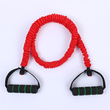 Fitness Anti Breaking Foam Handle Single Resistance Band Tubes Gym Exercixe Workout Pull-up Strap Ropes With Nylon Outer Sleeve