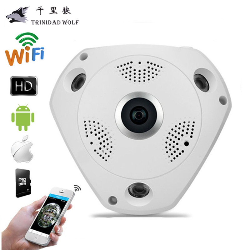 TRINIDAD WOLF 360 Panoramic Camera 960P VR IP Camera WiFi Fisheye 1.3MP 3D IP Camera Security Night Vision CCTV Surveillance<br>