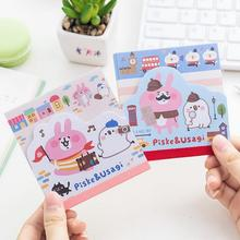 Kanahei Lovely Cartoon Story Self-Adhesive N Times Memo Pad Sticky Mini Notes Post It Bookmark School Office Supply