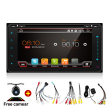 "7"" 2Din 4 Core Android 6.0 Car Tap PC Tablet  2 Din Universal  For Toyota 200*100 GPS Navigation BT Radio Stereo Audio Player"