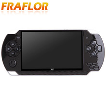 X6 Handheld Game Console 4.3 inch Screen MP4 Player MP5 Game Player Real 8GB Support For PSP Game Camera Video e-book