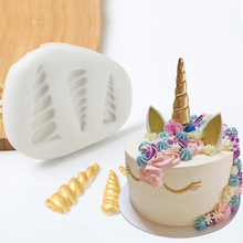Unique Unicorn Silicone Mold Fondant Mould Cake Decorating Tools Chocolate Gumpaste Mold, Sugarcraft, Kitchen Gadgets(China)