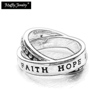Multiple Ring Faith Hope Love 925 Sterling Silver Trendy Gift For Women Men, Thomas Style Glam Fashion TS Fashion Jewelry