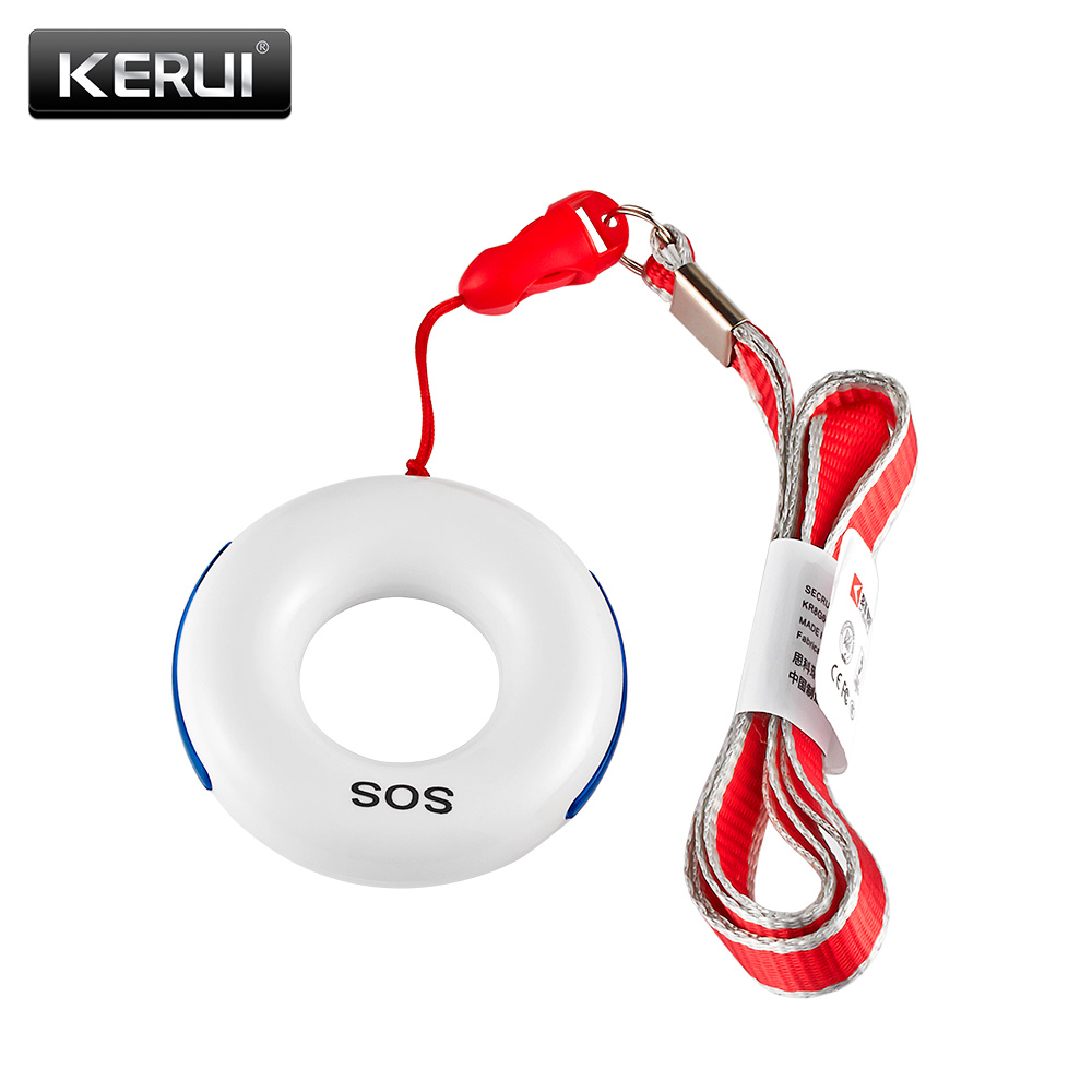 KERUI Wireless SOS/Emergency Button Key Alarm Accessories Fall Detector For KERUI Alarm System(China)
