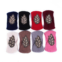 1Pc Fashion Women Lady Cotton Crochet Bow Knot Turban Knitted Head Wrap Hairband Winter Ear Warmer Headband Flower Hair Band(China)