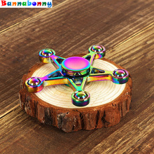 Buy 20PCS/Lot Multicolor Five-pointed star Fidget Spinner Metal Finger Hand Spinner Brass Autism Adult Anti Relieve Stress Toy for $69.43 in AliExpress store
