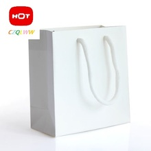 10pcs/lot kraft paper bag  handle / wedding party white bag /Fashionable cloth shoes gift paper bags / 2size Multifunction