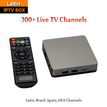 Latin IPTV Box with 300+ Brazil Latin Spain USA Live TV Channels Quad Core 4k Android TV Box Fast and Stable Smart TV Box(China)