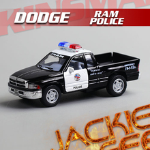 Hot sale 1pc 1:44 12.5cm mini delicate KINSMART dodge RAM Pickup truck police simulation model alloy car decoration gift toy(China)