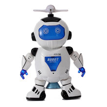 Action figure walking robot dance sing intelligent toy one pcs light and sound(China)